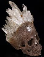 "Mineral Specimen 7.7"" Quartz Rock Crystal Carved Crystal Skull"
