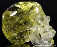 4.1'' Citrine Carved Crystal Skull, Super Realistic