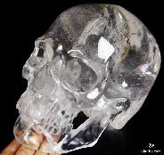 "Rainbows, GIANT 7.7"" Quartz Rock Crystal Carved Crystal Skull, Super Realistic"
