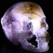 Oct 23, 2014 ACSAD (A Crystal Skull a Day) - A Touch of Class - Agate Amethyst Geode Carved Crystal Skull Sculpture