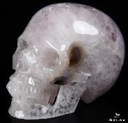"Amethyst Geode HUGE 5.2"" Quartz Rock Crystal Carved Crystal Skull, Realistic"