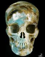 "HUGE 6.5"" Chinese Amazonite Carved Crystal Skull, Super Realistic"