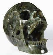 "Flash Huge 5.2"" Labradorite Carved Crystal Laughing Skull"