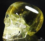 "Great Quality Gemsotne 5.2"" Citrine Carved Mitchell-Hedges Crystal Skull Replica, Skull of Doom"