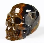 "Geode 1.3"" Empire Red Agate Carved Crystal Skull"
