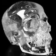 "Lifesized 6.7"" Quartz Rock Crystal Carved Crystal Skull, Super Realistic"