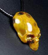 Gemstone Empire Red Agate Carved Crystal Skull Pendant