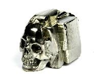 1.6 Pyrite Druse Carved Crystal Skull