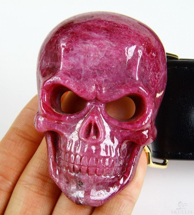 Ruby Crystal Skull Buckle