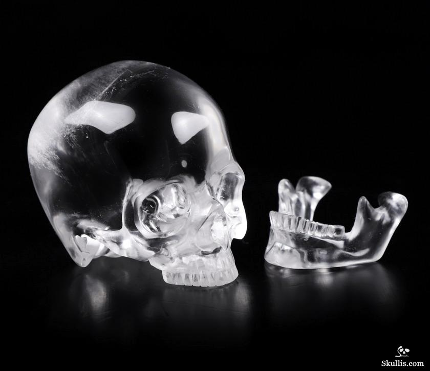 Quartz Rock Crystal Crystal Skull With Detachable Jaw