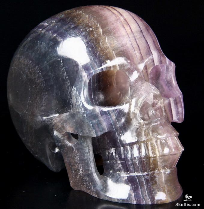 Huge quot fluorite carved crystal skull realistic