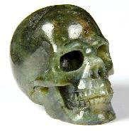 "2.4"" Labradorite Carved Crystal Skull, Realistic"