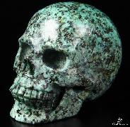 "2.5"" African Turquoise Carved Crystal Skull, Realistic"