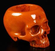 "3.3"" Red Jasper Carved Crystal Skull Container"