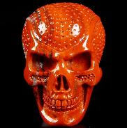 Red Jasper Carved Crystal Skull Buckle