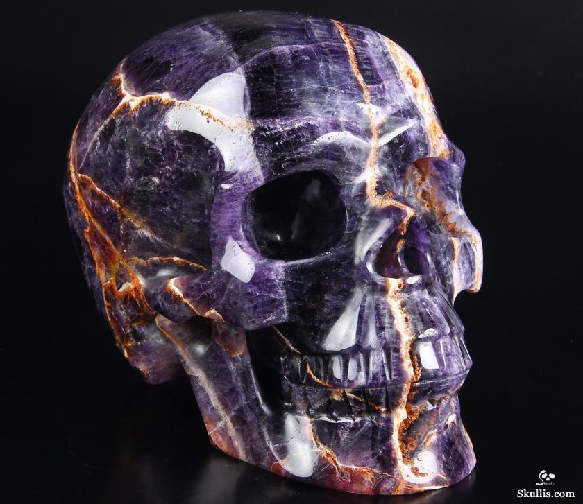 Lifesized quot fluorite carved crystal skull realistic
