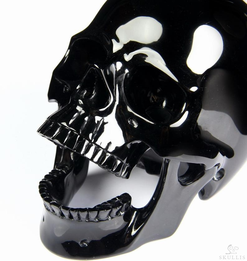 Black Obsidian Crystal Laughing Skull