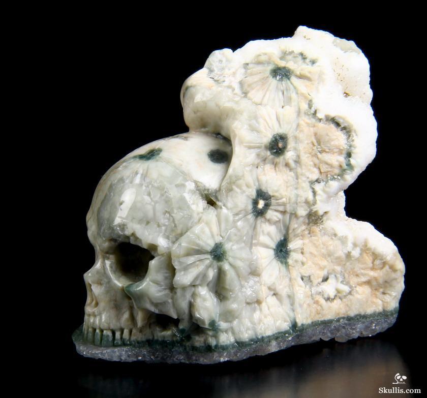 Quot ocean jasper carved crystal skull sculpture skullis