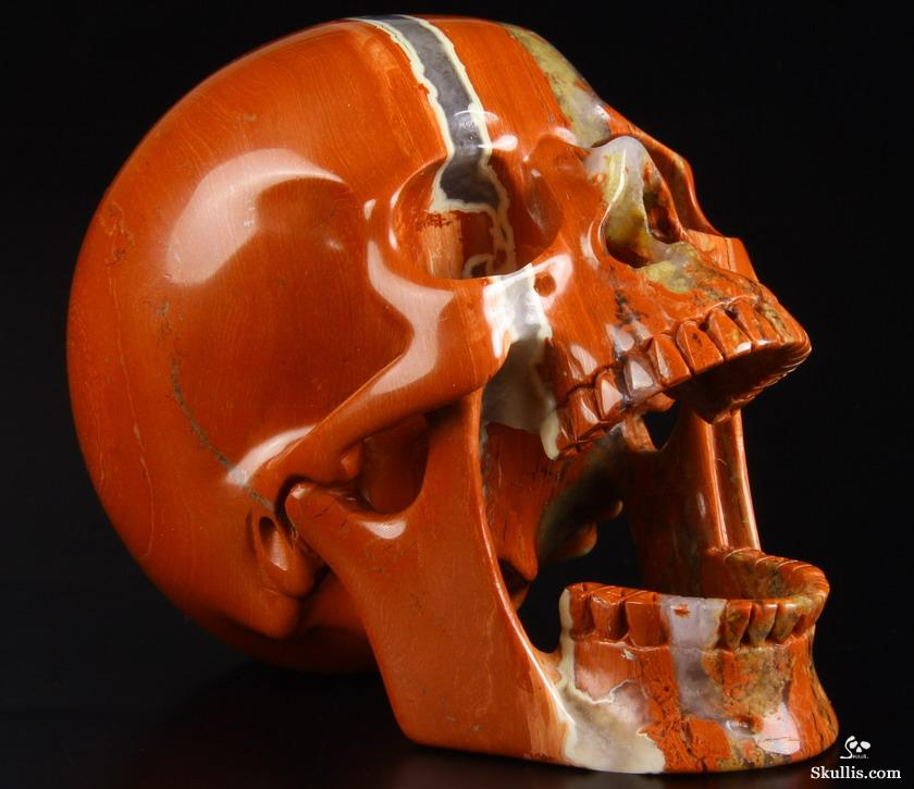Red Jasper Crystal Laughing Skull