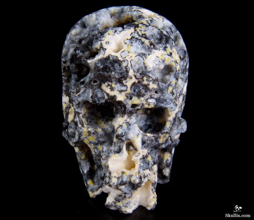Geode quot blue ocean agate carved crystal skull
