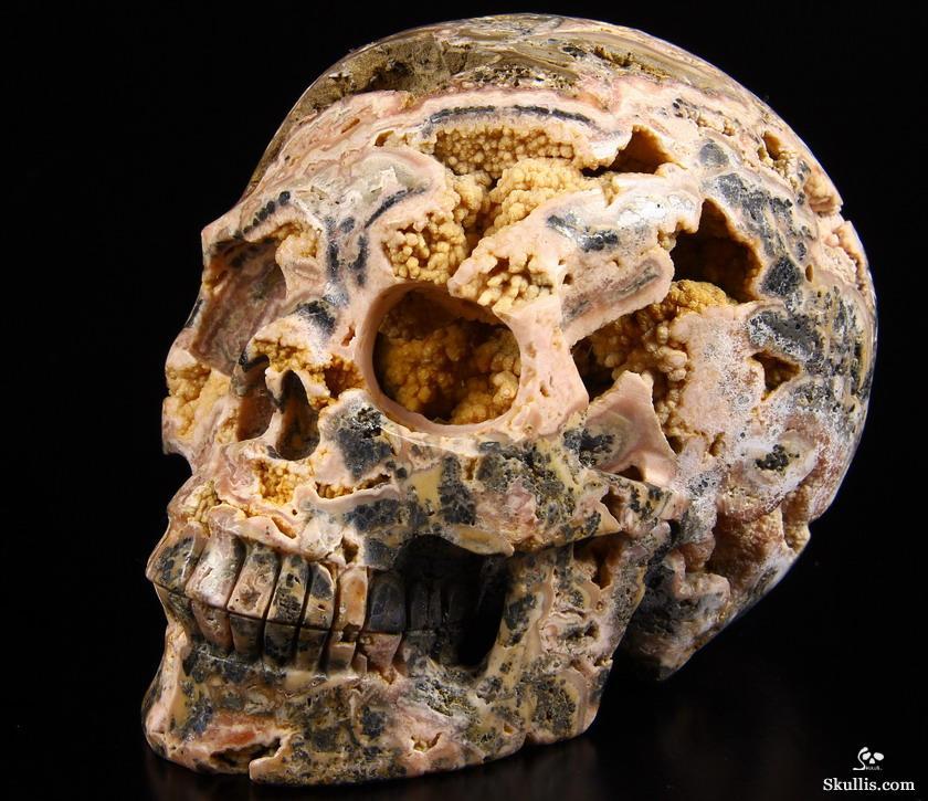 Gemstone geode quot rhodochrosite carved crystal