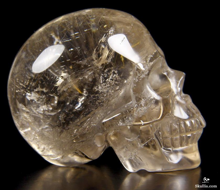 gemstone 2 0 quot rutilated quartz rock carved
