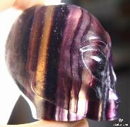 "Nice 2.4"" Fluorite Carved Crystal Star Being, Female Alien Skull"