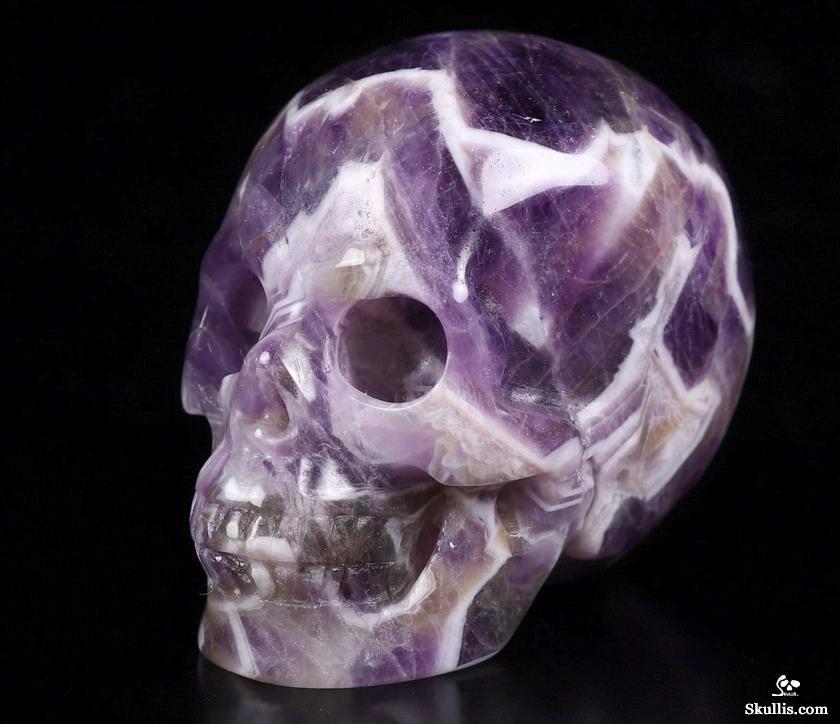 Chevron Amethyst Quartz Skull 2\u201dx 1.5\u201d