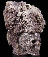 "Nice Huge 4.6"" Purple Grape Agate Carved Crystal Skull Sculpture"
