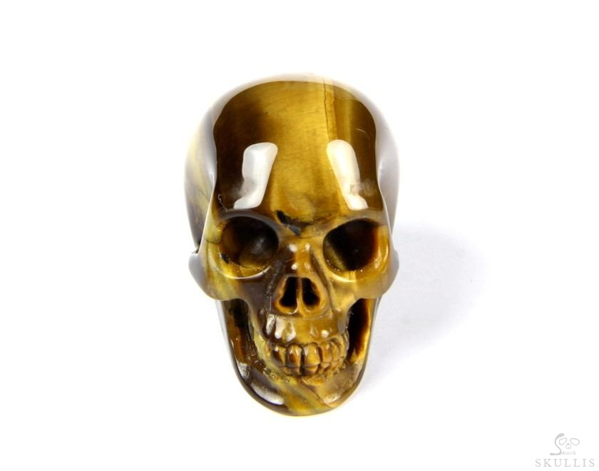 amazing flash gemstone 1 2 quot gold tiger eye carved