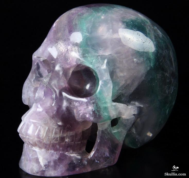 Nice huge quot fluorite carved crystal skull realistic