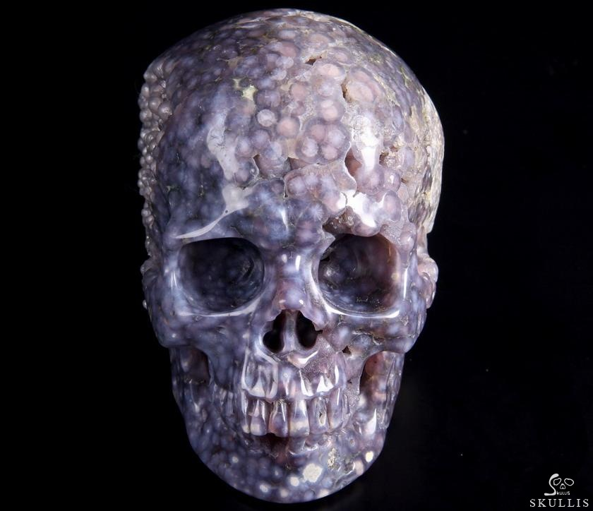 Purple Grape Agate Crystal Skull