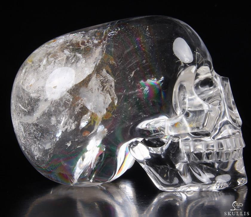 Quartz Rock Crystal Crystal MH Skull Replicas, Detachable Jaw