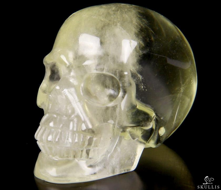 Quot citrine carved crystal skull realistic skullis