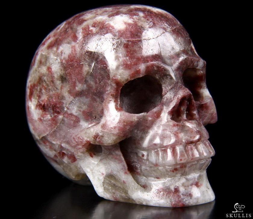 Quot rubbellite carved crystal skull realistic skullis