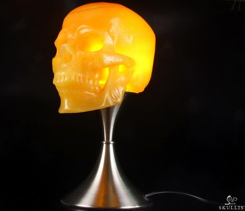 Beeswax Jade Crystal Skull Dig Hollow Inside