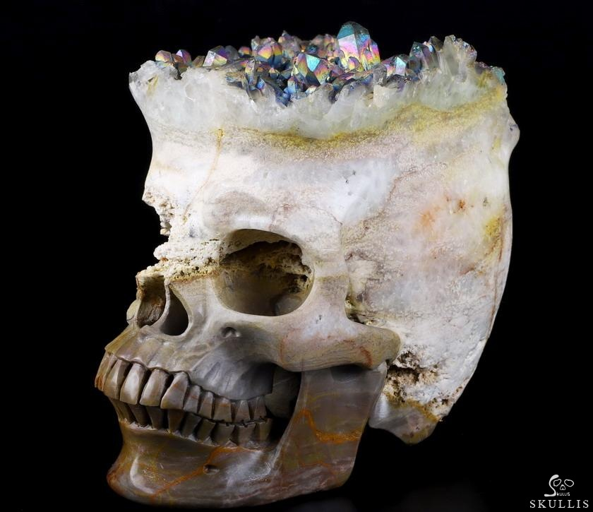 Quartz Rock Crystal DRUSE Crystal Skull