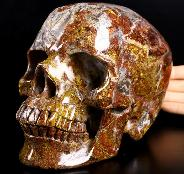 "GEMSTONE 7.1"" Pietersite Carved Crystal Skull, Super Realistic, Crystal Healing"