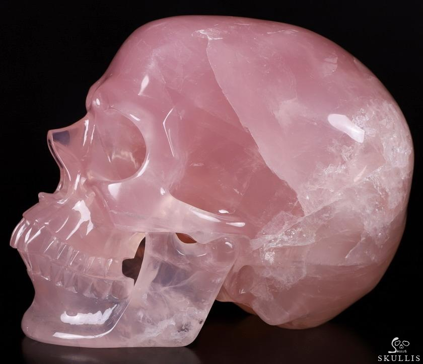 Nice Rose Quartz Crystal Skull