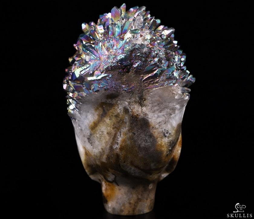 Quartz Rock Crystal Druse Crystal Female Alien Skull
