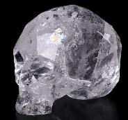 "3.9"" Quartz Rock Crystal Carved Faceted Crystal Skull Sculpture, Healing"