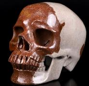 "5.3"" Sacred Shiva Lingam Carved Crystal Skull, Super Realistic, Crystal Healing"