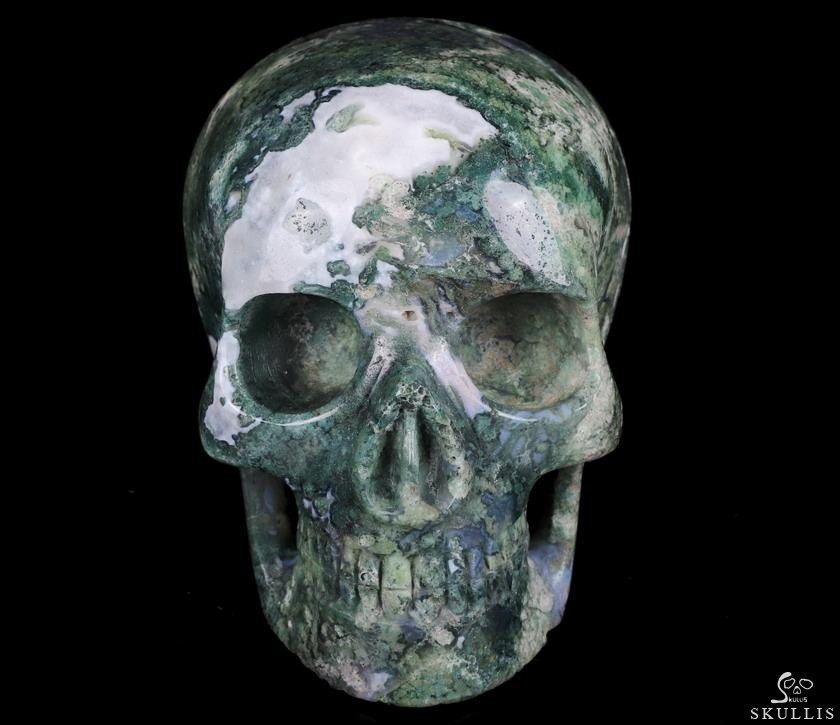 Green Moss Agate Crystal MH Skull Replicas
