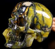 "6.2"" New Pietersite Carved Crystal Skull, Super Realistic, Crystal Healing"
