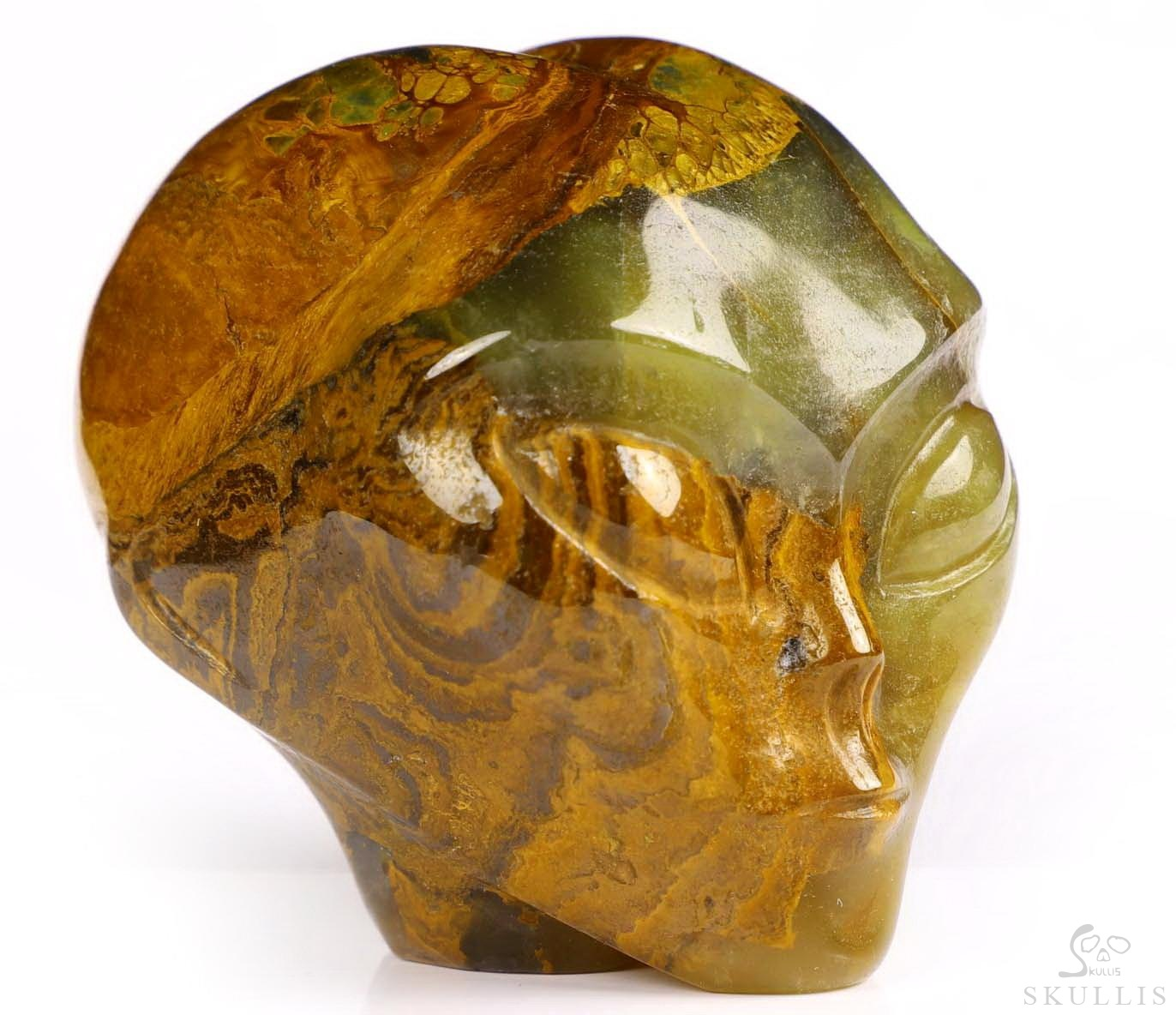 New Pietersite Crystal Female Alien Skull