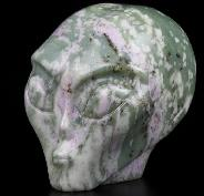 "2.0"" Peace Jasper Carved Crystal Female Alien skull, Crystal Healing"