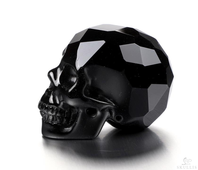 Black Obsidian Crystal Facted Skull