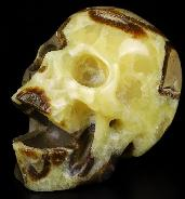 "Huge 5.3"" Dragon Septarian Stone Carved Crystal Laughing Skull, Crystal Healing"