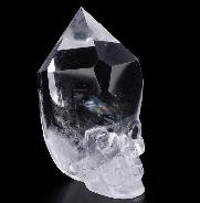 "Top Clear 2.6"" Quartz Rock Crystal Carved Crystal Skull, Wand/Point, Crystal Healing"
