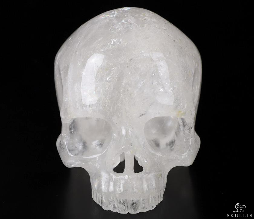 Quartz Rock Crystal Crystal Skull Without Jaw